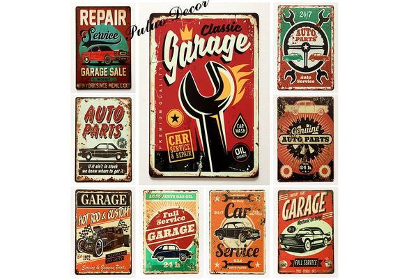 Car Parts Advert for Thrush Muffler Vintage Retro Style Metal Sign Plaque garage