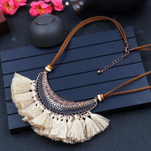 ethnicjewelry, Party Necklace, Chain, tasselnecklace