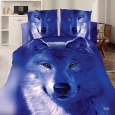 comforterbeddingset, 3dwolf, bedclothe, King