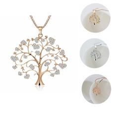 treeoflifependant, gold, Family, Rose