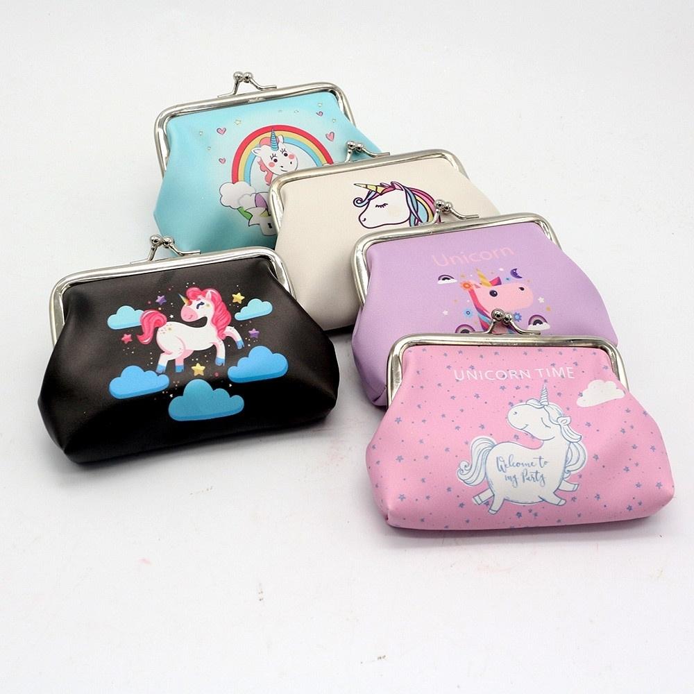 Purple Polka Dot Lunch Money Holder Hedgehog Change Purse School Money Holder Girls Coin Purse Clasp Pouch
