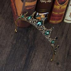 bridalhairaccessorie, retroluxury, crown, Rhinestone