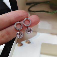 Sterling, earrings jewelry, DIAMOND, Dangle Earring