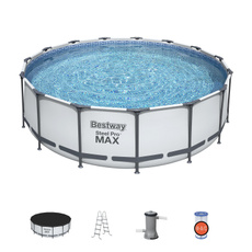 Steel, Swimming, metalframebackyardabovegroundswimmingpool, Family