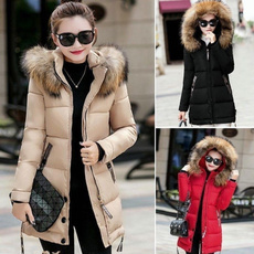 padded, Fashion, Winter, Long Coat