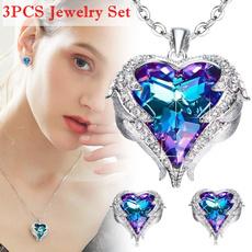 Necklace, Heart, DIAMOND, Jewelry