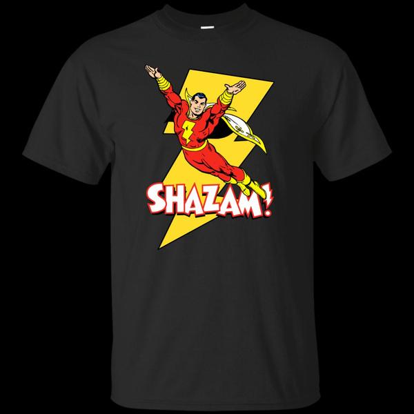 Mens T Shirt, Fashion, shazam, Cotton T Shirt