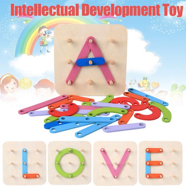 teachingtool, geometricblock, Colorful, Wooden
