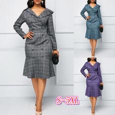 work dress, Plaid Dress, solidcolordres, Formal Dress