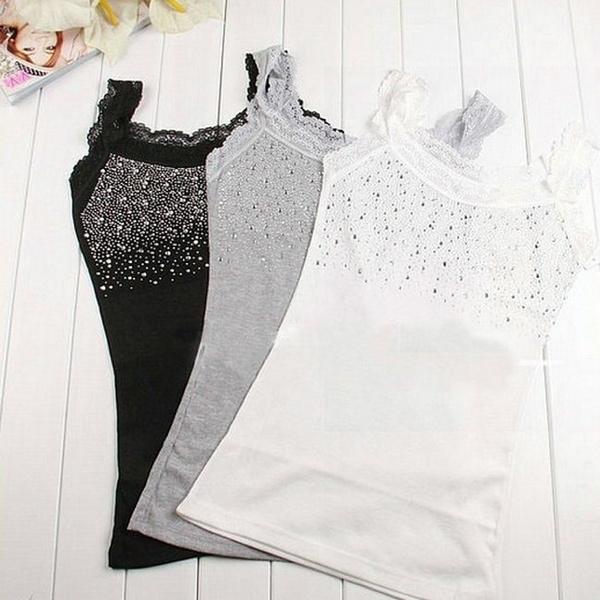 Vest, Fashion, Lace, slim