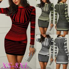 slim dress, Necks, Sleeve, slim long