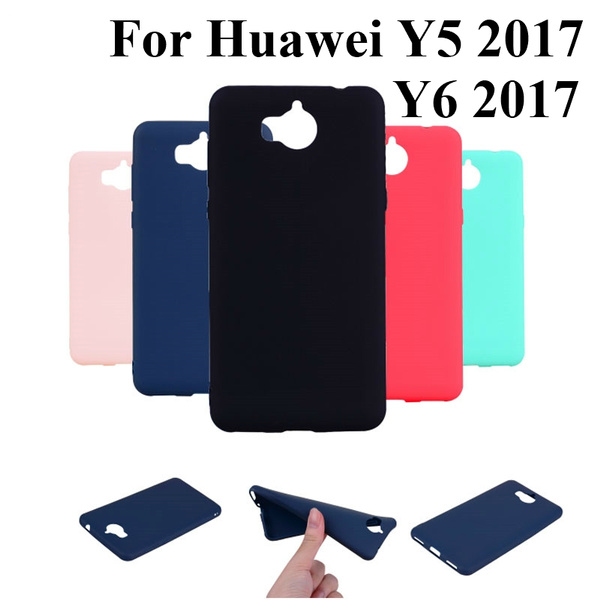 Candy Color TPU Soft Phone Case For Huawei Y5 2017 / Y6 2017 / Nova Young Case Slim 360 Protect Silicon Back Cover Huawei Y6 2017 Case   Wish
