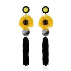 exaggeratedearring, pendantearring, Flowers, Jewelry