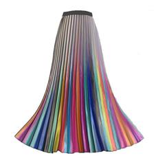 Fashion Skirts, long skirt, elastic waist, Waist