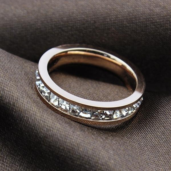 Steel, DIAMOND, femalering, Women Ring