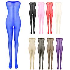 Open Crotch, Leggings, Plus Size, Elastic