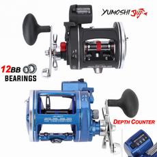 boatingfishing, trollingfishingreel, Metal, smooth