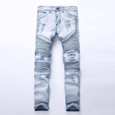 men jeans, Plus Size, Casual pants, rippedjean