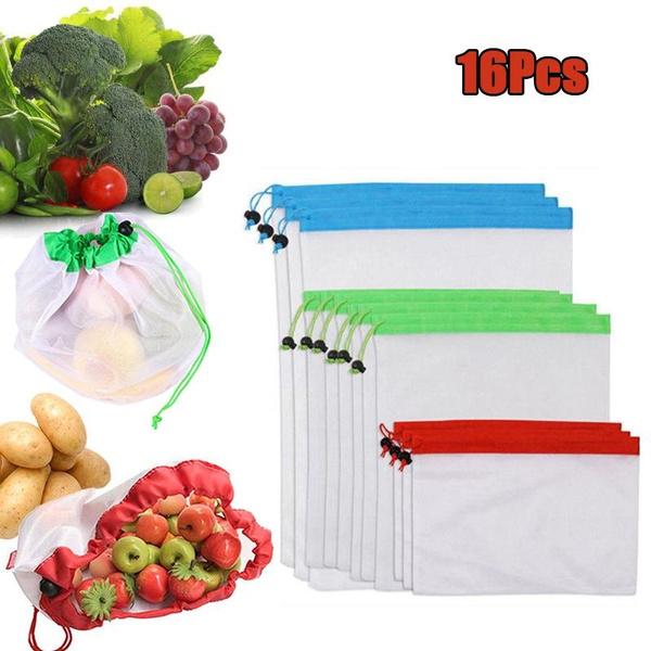 washable, vegetablefruit, vegetablefruitbag, Pouch