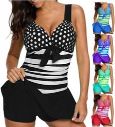 Women, Shorts, bikini set, polka dot
