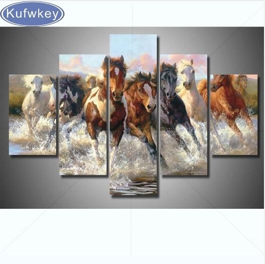 horse, DIAMOND, art, Home Decor
