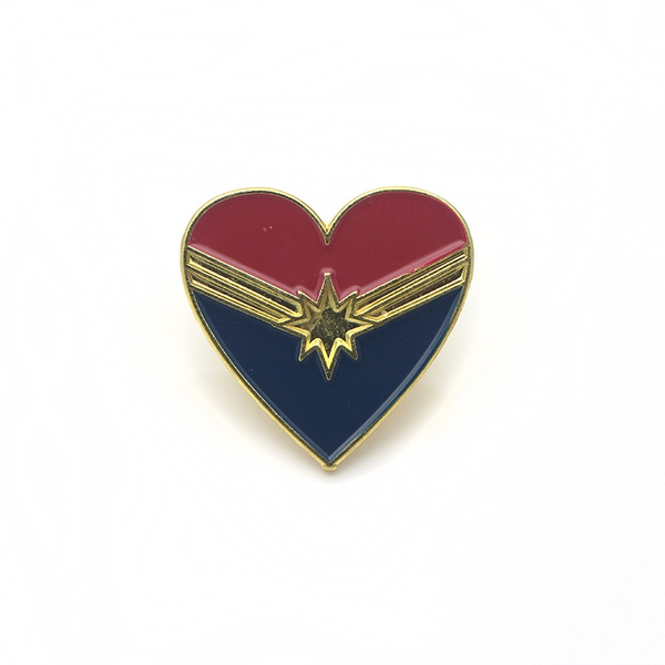 Heart, backpackbadge, brooches, Superhero