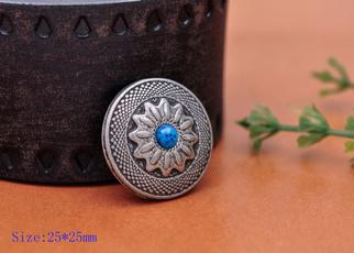 Antique, beltconcho, Turquoise, Flowers