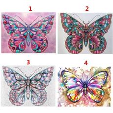 crossstitch, decoration, DIAMOND, Butterflies