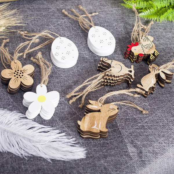 easterdecoration, Natural, Wooden, Chips