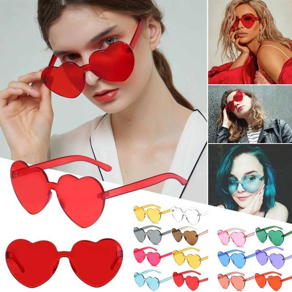 pink, Heart, tint, sunprotectionsunglasse