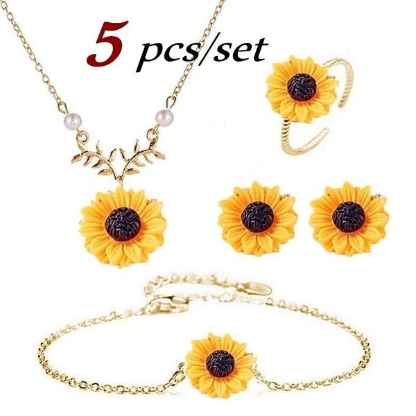 Fashion, sunflowerbracelet, Earring, Women's Fashion
