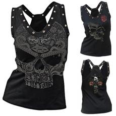 Vest, Fashion, Skeleton, skullprint