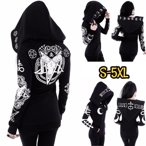 Goth, Plus Size, Cosplay, Hoodies