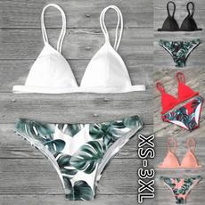 Summer, two piece swimsuit, leaf, bikini set