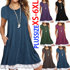 Mini, short sleeve dress, Summer, plus size dress