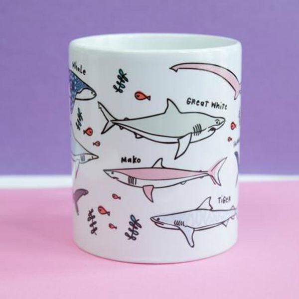 Shark, oceanography, gift for him, Gifts