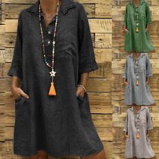 sleevelessdresse, Sleeve, pocketdressforwomen, plus size dress