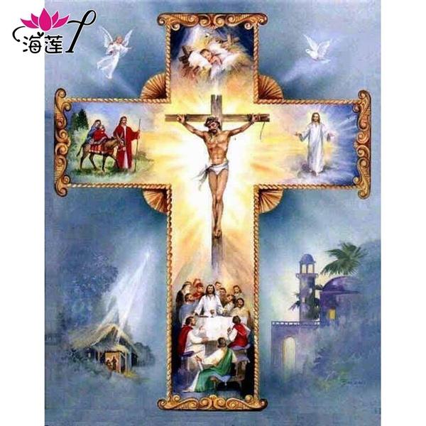 DIAMOND, Christian, diamantpainting, Cross