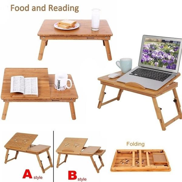 bamboolaptopdesk, rackshelf, Shelf, tablesstand