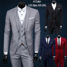 Set, Long Sleeve, Spring, Suits