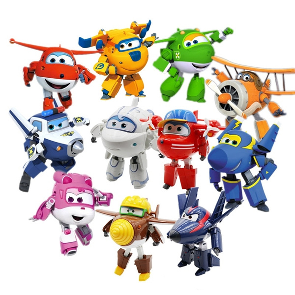 BIG Super Wings Deformation Airplane Robot Action Figures Transformation Toys