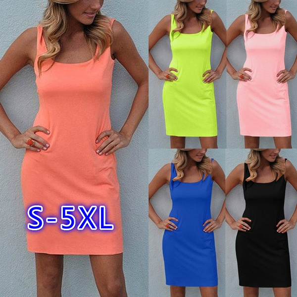 Tank, slim dress, summer dress, halter dress