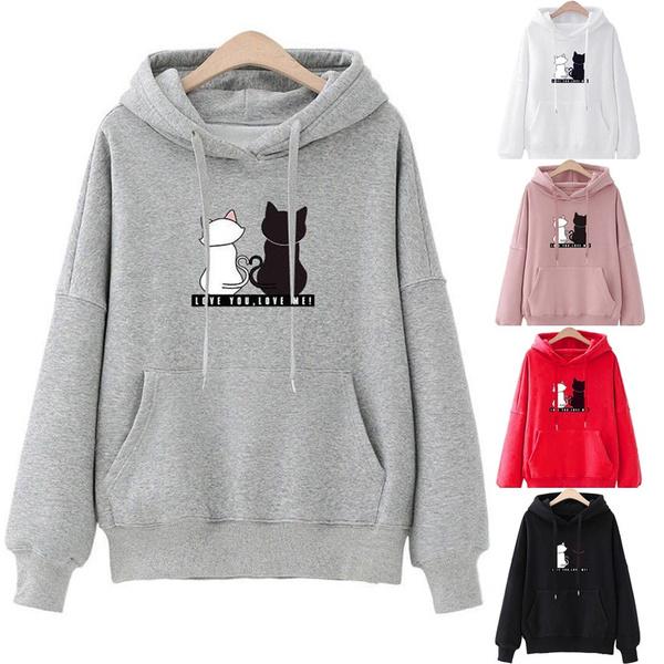 blouse, hooded, Winter, Women Blouse