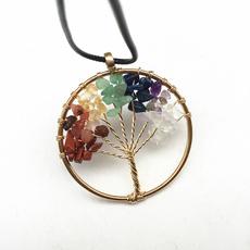 spiritual, colorfulcrystal, treeoflifependant, Jewelry
