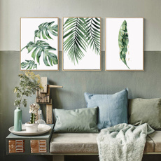 leaves, Plants, Wall Art, canvaspainting