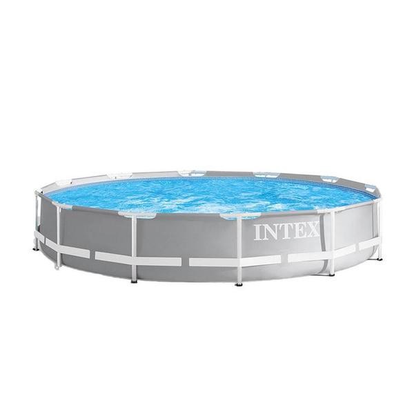 abovegroundframepool, intexpoolset, poolwithladderandpump, Pump