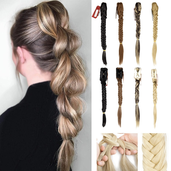 pony, clip in hair extensions, Hair Extensions, ponytailfishtailbraid