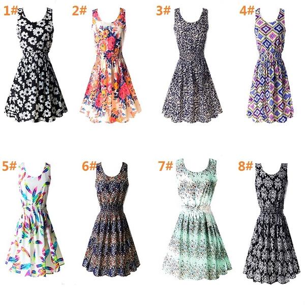 Fashion, chiffon, sundress, fashion dress