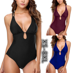Plus Size, backlessswimsuit, women swimsuit, onepiece