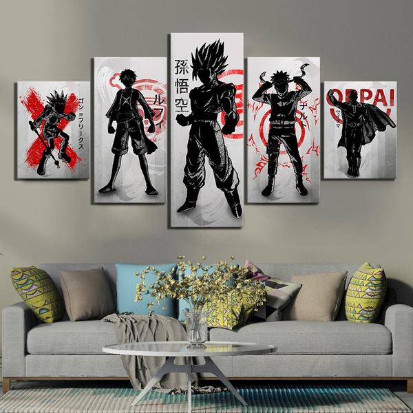Anime & Manga, art, Home Decor, Abstract Oil Painting